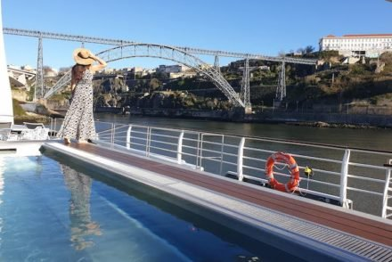 Susana Ribeiro no navio Amalia Rodrigues - CroisiEurope - no Porto © Viaje Comigo