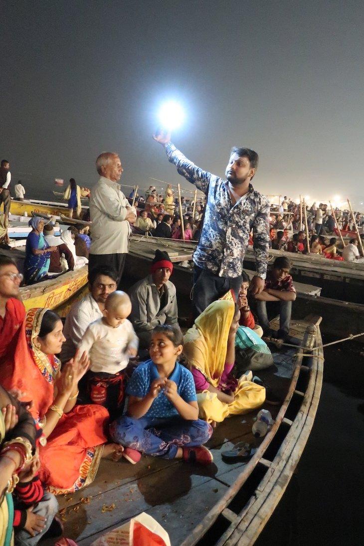Cerimónia da noite - Varanasi - Índia © Viaje Comigo
