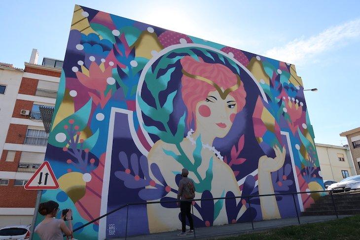 """""""Diamante"""" de Kruella no Roteiro Arte Urbana de Estarreja © Viaje Comigo"""