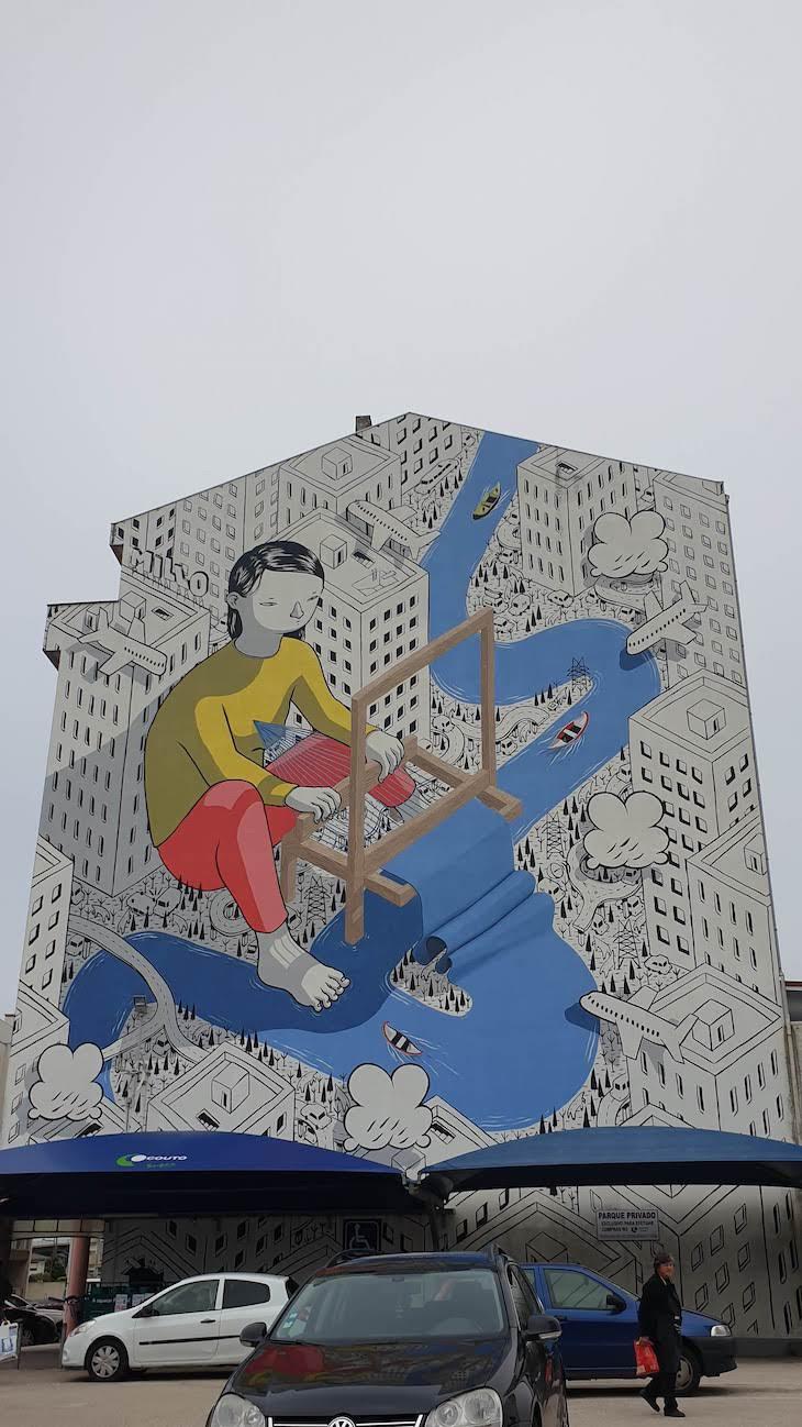 """MILLO """"Weave""""- Roteiro de Arte Urbana - Estarreja © Viaje Comigo"""