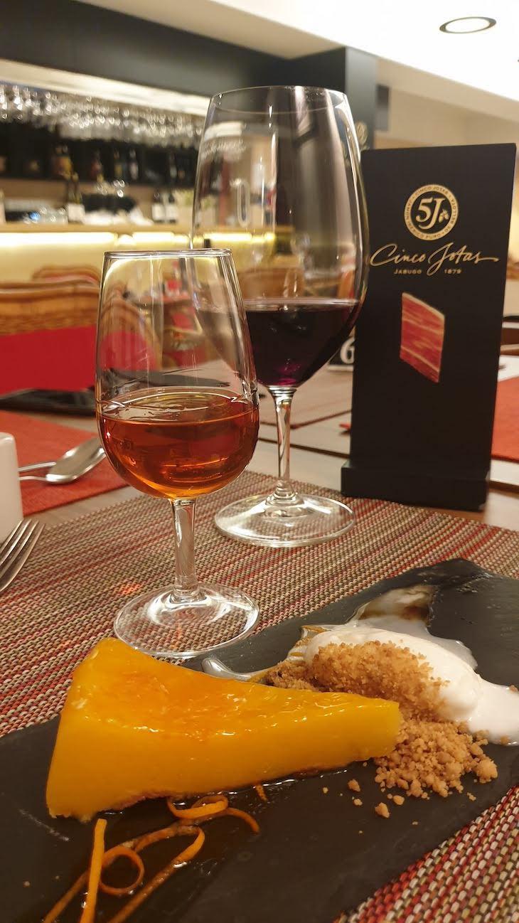 Delícia de laranja - Presunto 5 Jotas -restaurante Bom Sucesso Gourmet - Porto © Viaje Comigo