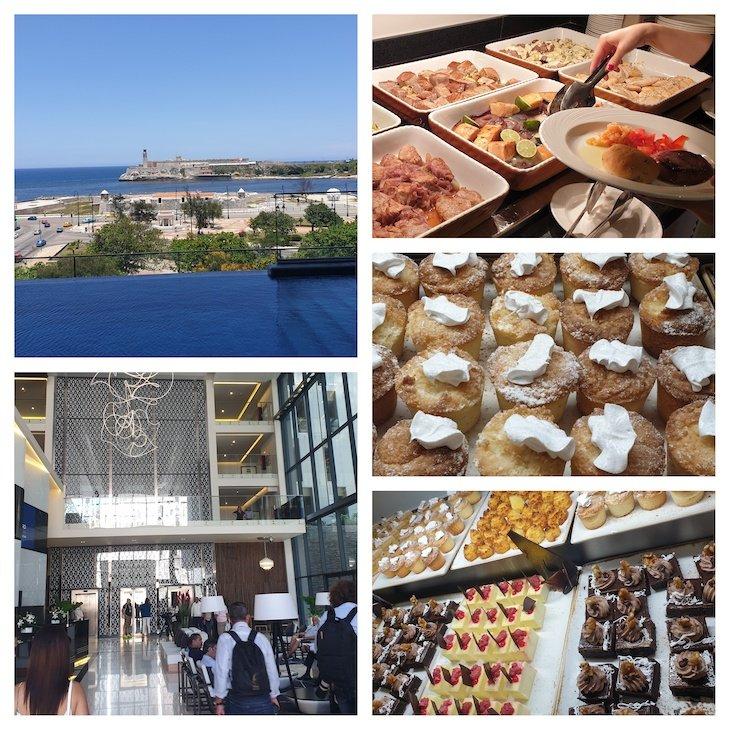Comida no buffet do Hotel Iberostar Grand Packard Havana - Cuba © Viaje Comigo