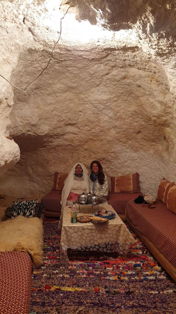 Na casa troglodita de Bhalil - Marrocos © Viaje Comigo
