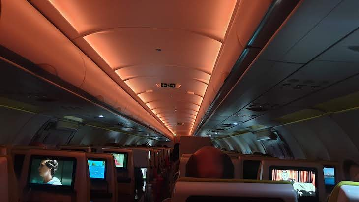 Dentro do A321 Neo, Tap voa Lisboa - Tel Aviv, Israel © Viaje Comigo