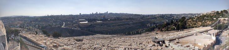 Panorâmica do Monte das Oliveiras - Jerusalém - Israel © Viaje Comigo