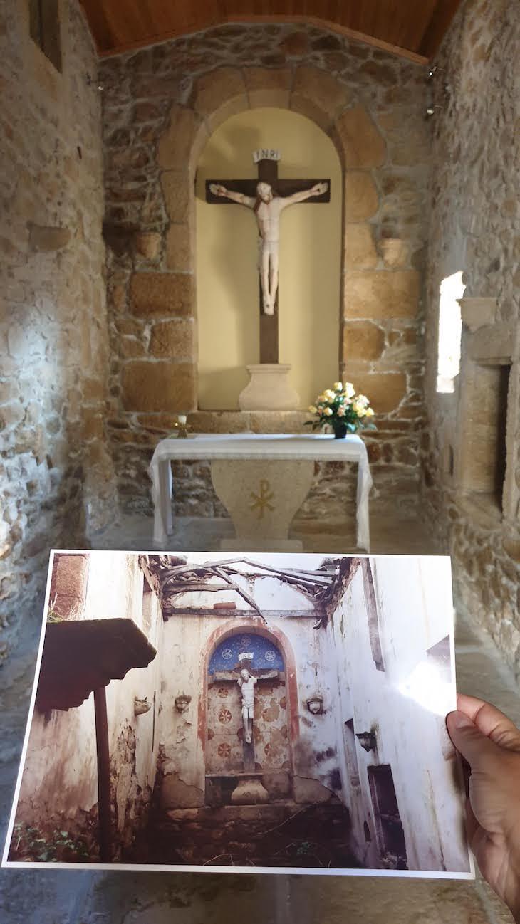 Antes e depois da Capela - Aldeia do Juízo - Pinhel - Guarda - Portugal © Viaje Comigo