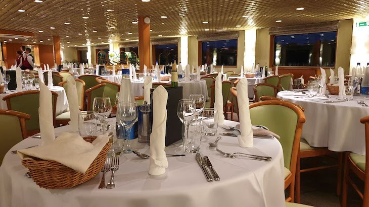 Restaurante do Navio Beethoven CroisiEurope - cruzeiro Danúbio © Viaje Comigo