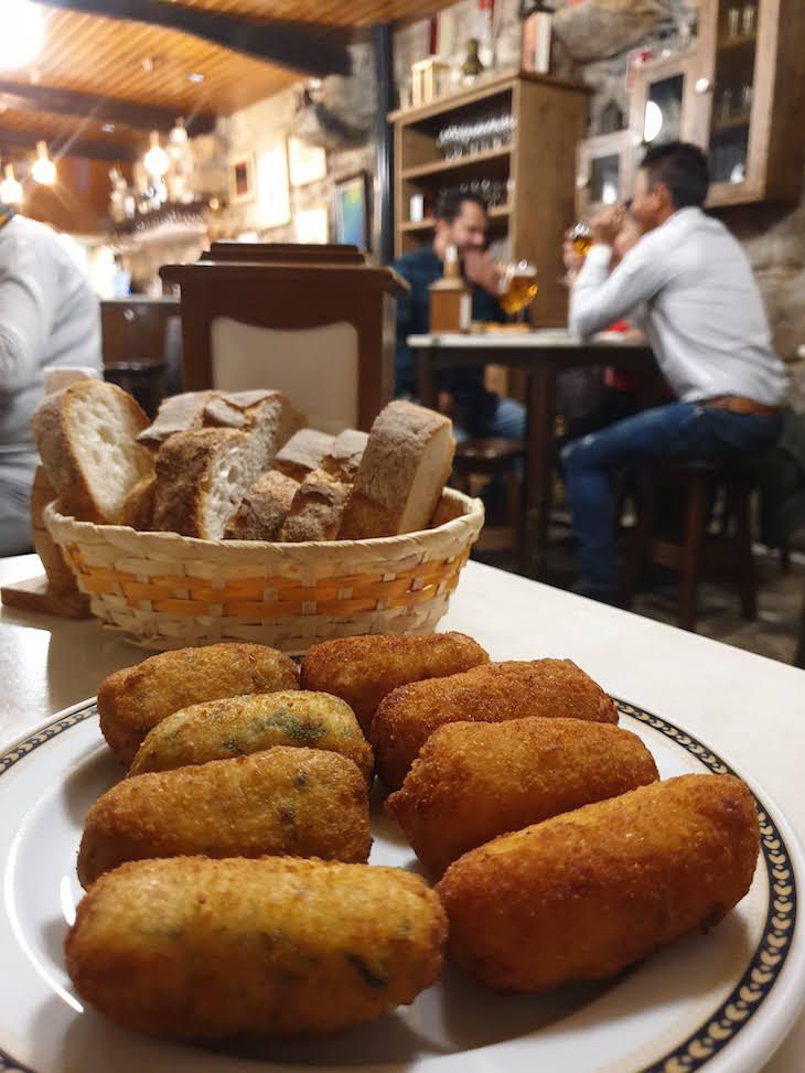 Croquetas da Taberna Eligio - Vigo - Galiza © Viaje Comigo
