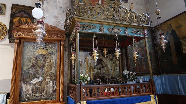 Virgem Maria a sorrir - Basílica da Natividade -Belém - Palestina © Viaje Comigo