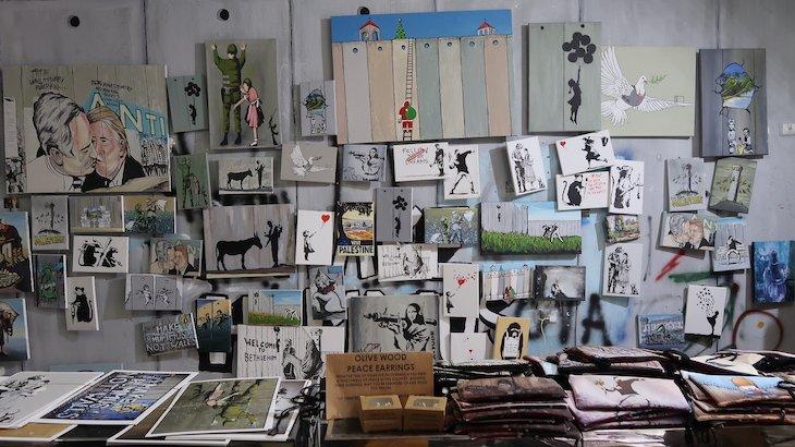 Lojas junto do Muro da Cisjordânia - Belém © Viaje Comigo