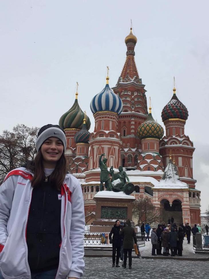 Marta Caride em Moscovo - Março 2018 © DR