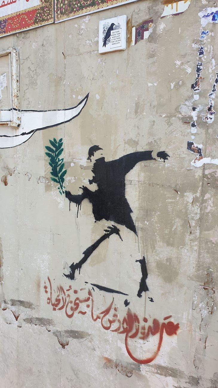 Banksy - Muro Palestina - Cisjordânia © Viaje Comigo