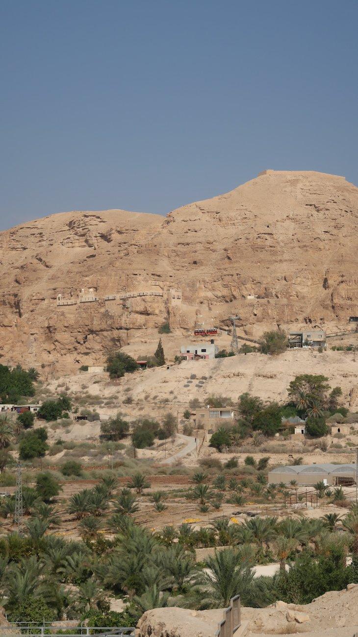Teleférico e Mosteiro no Monte das Tentações - Jericó - Palestina © Viaje Comigo
