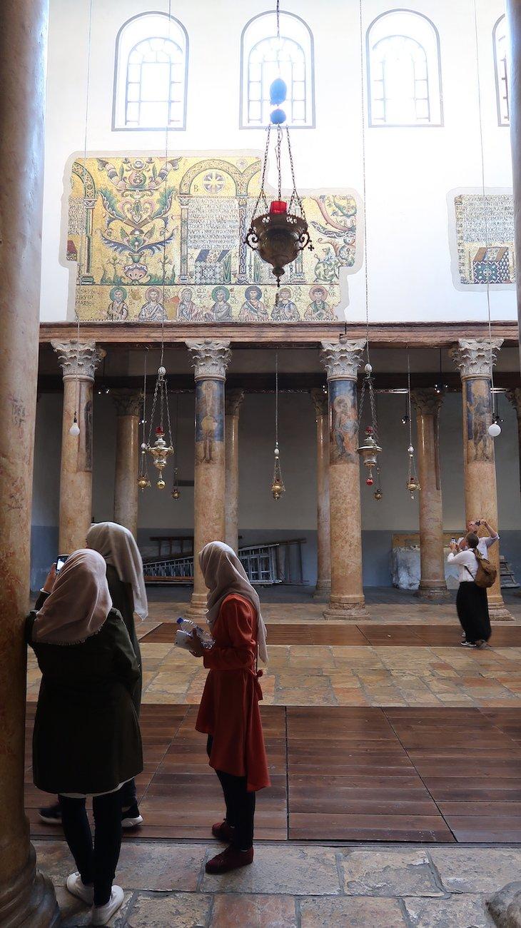 Mosaicos nas paredes da Basílica da Natividade -Belém - Palestina © Viaje Comigo