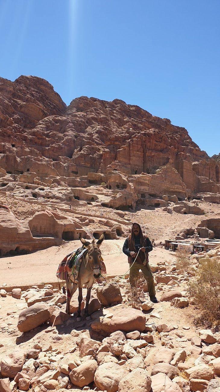 Homem com Burro, Petra - Jordânia © Viaje Comigo