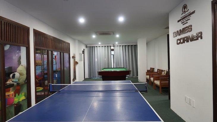Sala de jogos do Palm Garden Beach Resort & Spa, Hoi An - Vietname © Viaje Comigo