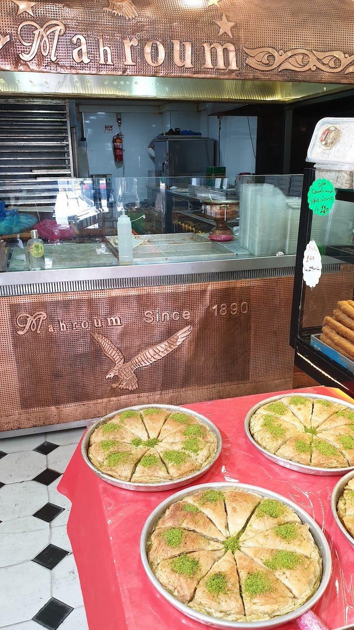 Pastelaria Mahroum em Nazaré - Israel © Viaje Comigo