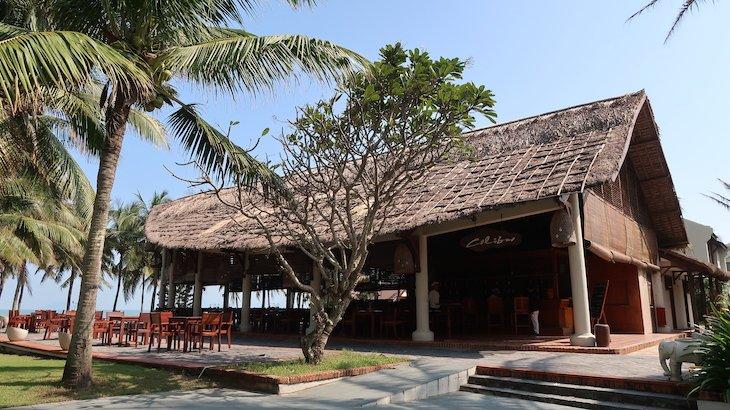 Restaurante do Palm Garden Beach Resort & Spa, Hoi An - Vietname © Viaje Comigo