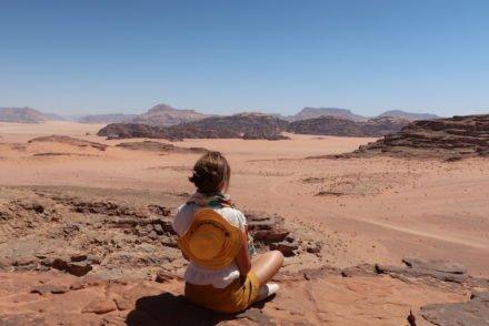 Susana Ribeiro no Wadi Rum - Jordânia © Viaje Comigo