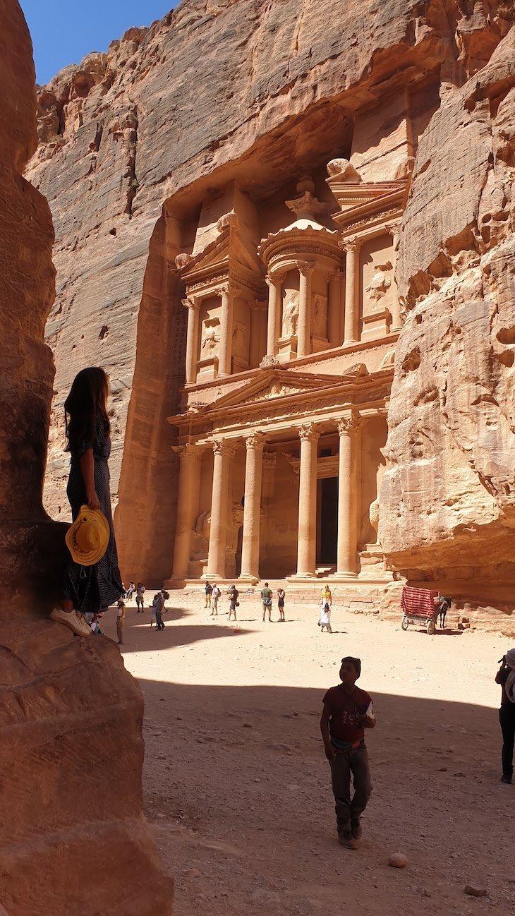 Templo de Petra - Jordânia © Viaje Comigo