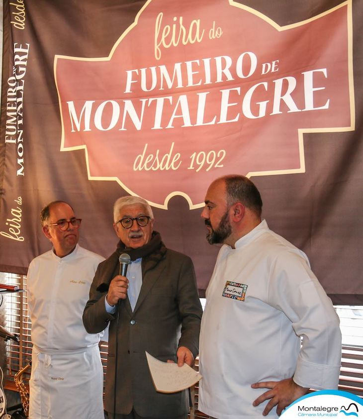 Chefe Nuno Diniz, Presidente da Câmara de Montalegre e chef Marco Gomes © DR