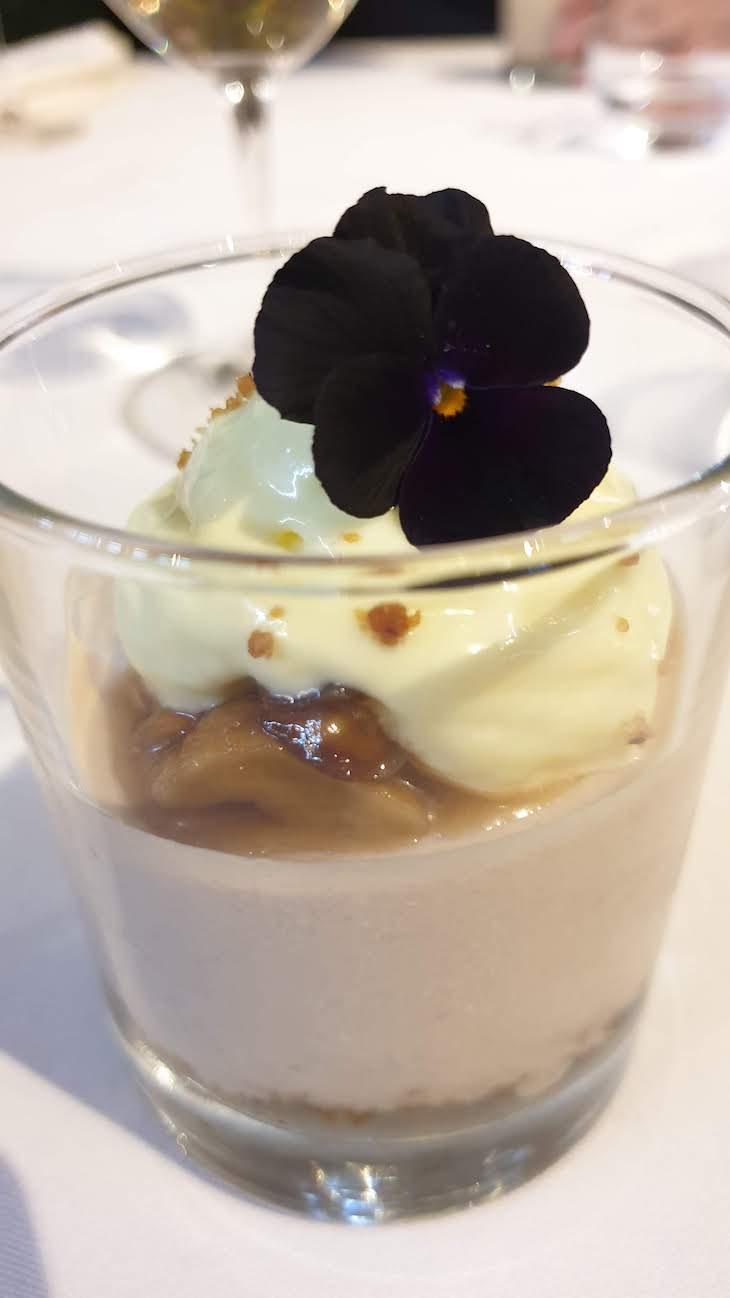 Sobremesa de castanha - Apresentação da Feira Fumeiro Montalegre - no restaurante Oficina, Porto © Viaje Comigo