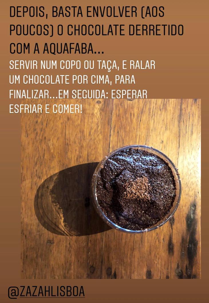 Passos 4 e 5 - Receita Mousse de Chocolate Vegan, pelo Chef Moisés do Restaurante Zazah©DR