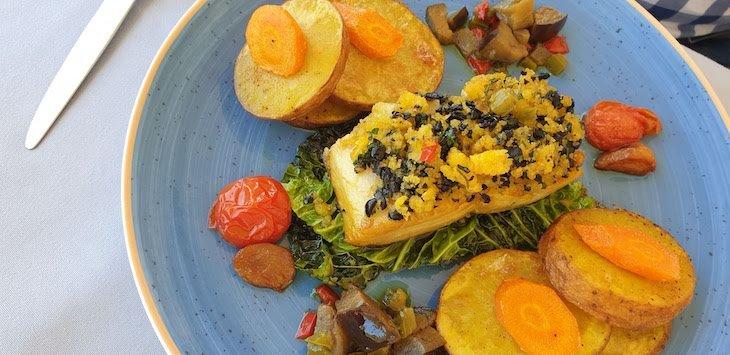 Bacalhau no Restaurante Papo D Anjo - Casas de Alpedrinha - Fundao © Viaje Comigo