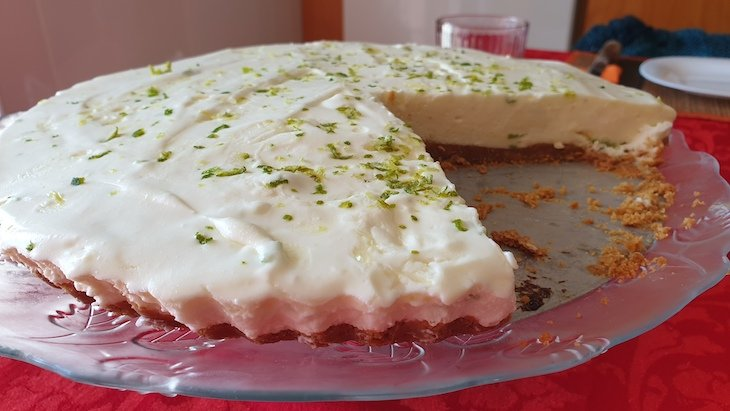Cheesecake de limão © Viaje Comigo