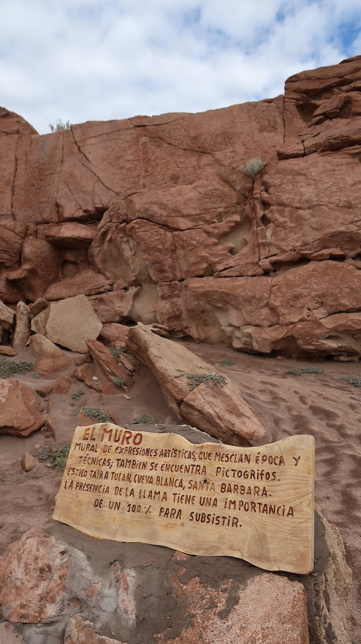Gravuras rupestres em Hierbas Buenas - Tour do Vale do Arco-Íris - Deserto no Atacama - Chile © Viaje Comigo