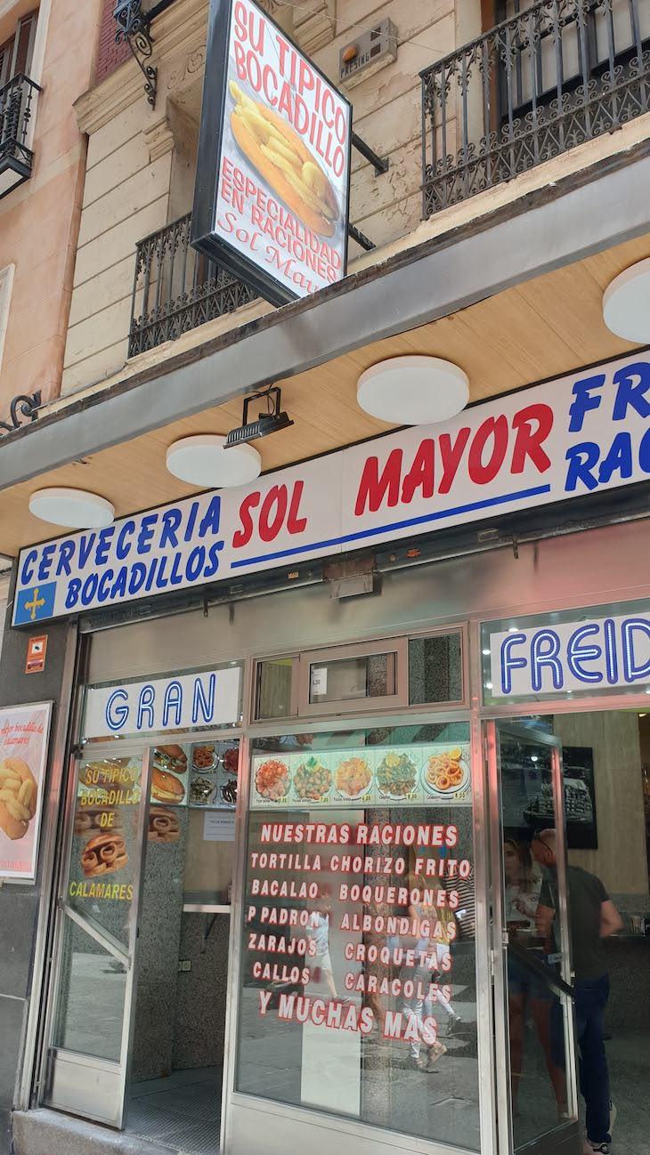 Bocadillos do Sol Mayor Madrid - Espanha © Viaje Comigo
