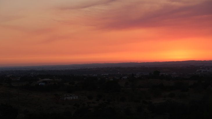 Pôr do sol a partir do Vale d'el Rei Hotel & Villas - Carvoeiro - Algarve - Portugal © Viaje Comigo