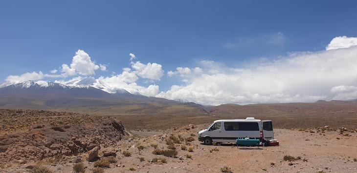 Almoço do Tour Lagunas Altiplânicas e Piedras Rojas - Atacama - Chile © Viaje Comigo