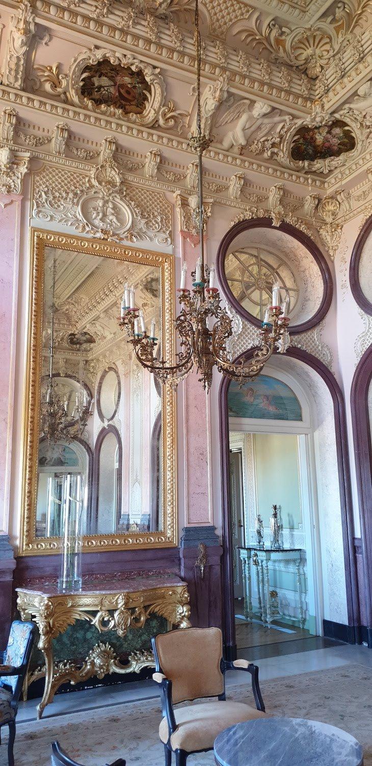 Salão da Pousada Palácio Estoi, Faro, Algarve © Viaje Comigo