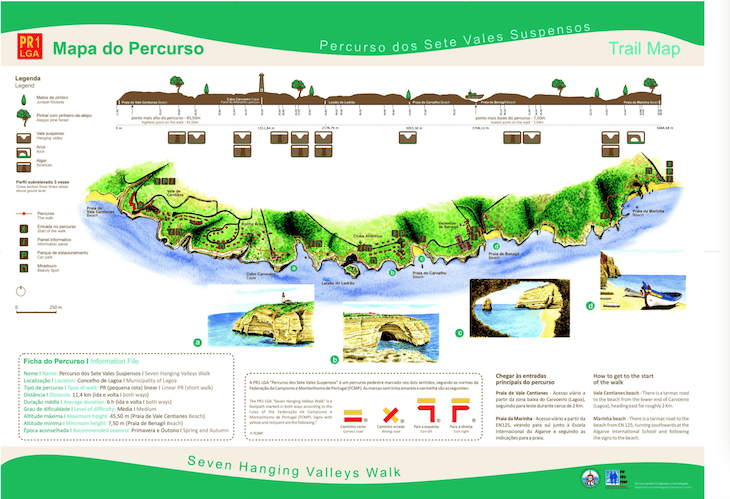 Mapa do Percurso 7 Vales Suspensos - Lagoa - Algarve DR