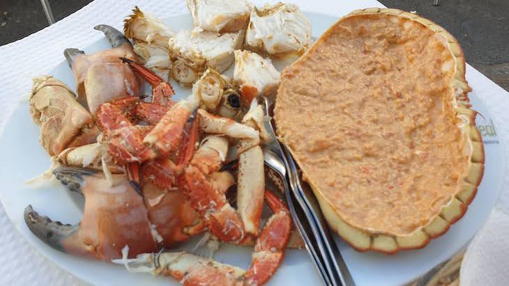 Sapateira no restaurante Tico Tico - Quarteira - Algarve © Viaje Comigo