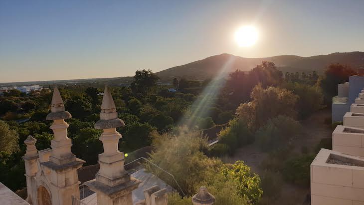 Pôr do sol na Pousada Palácio Estoi, Faro, Algarve © Viaje Comigo
