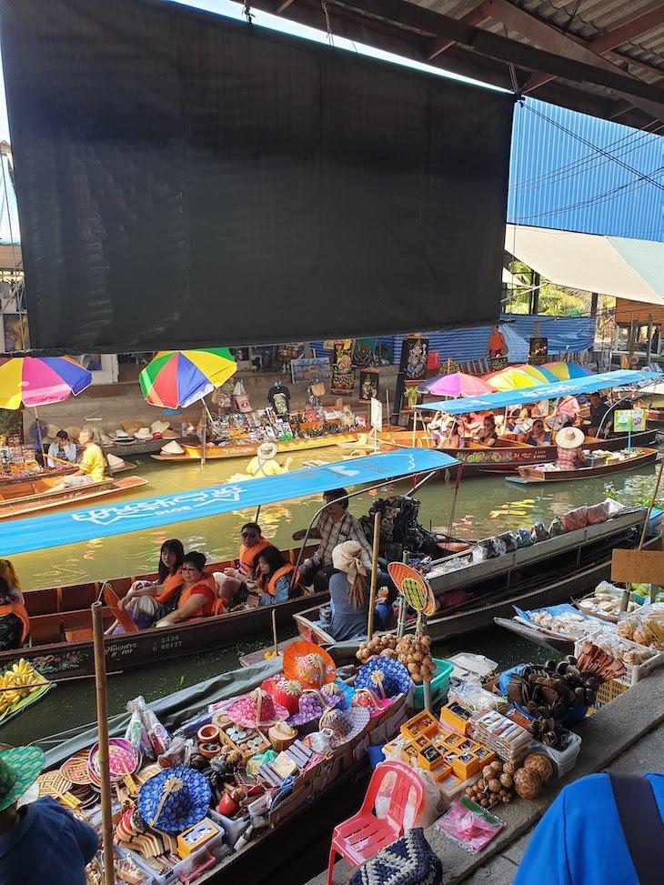 Mercado Flutuante Damnoen Saduak - Tailândia © Viaje Comigo