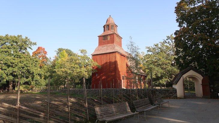 Igreja de Skansen - Estocolmo - Suécia © Viaje Comigo