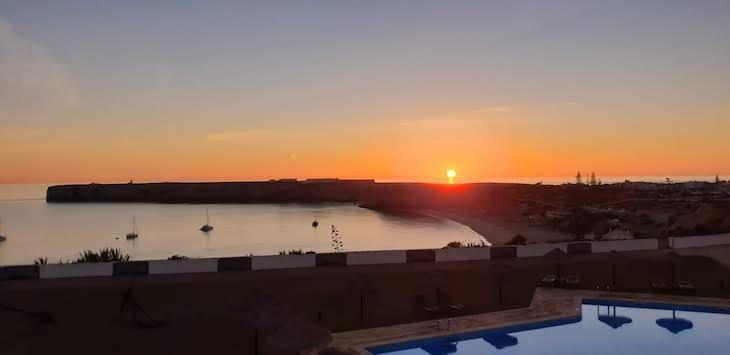 Pôr do sol na Pousada de Sagres - Algarve - Portugal © Viaje Comigo