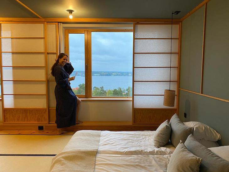 Susana Ribeiro no Hotel Yasuragi - Estocolmo - Suécia © Viaje Comigo