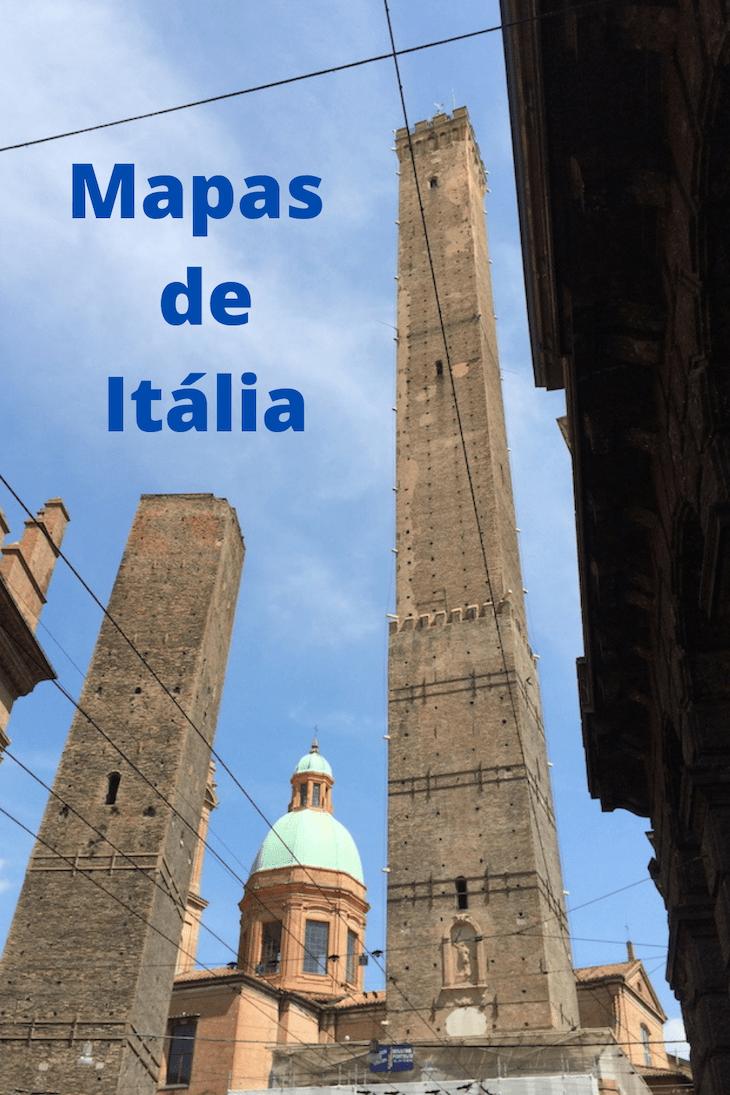 Mapas de Itália © Viaje Comigo