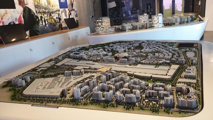 Maquete Expo 2020 - Dubai © Viaje Comigo