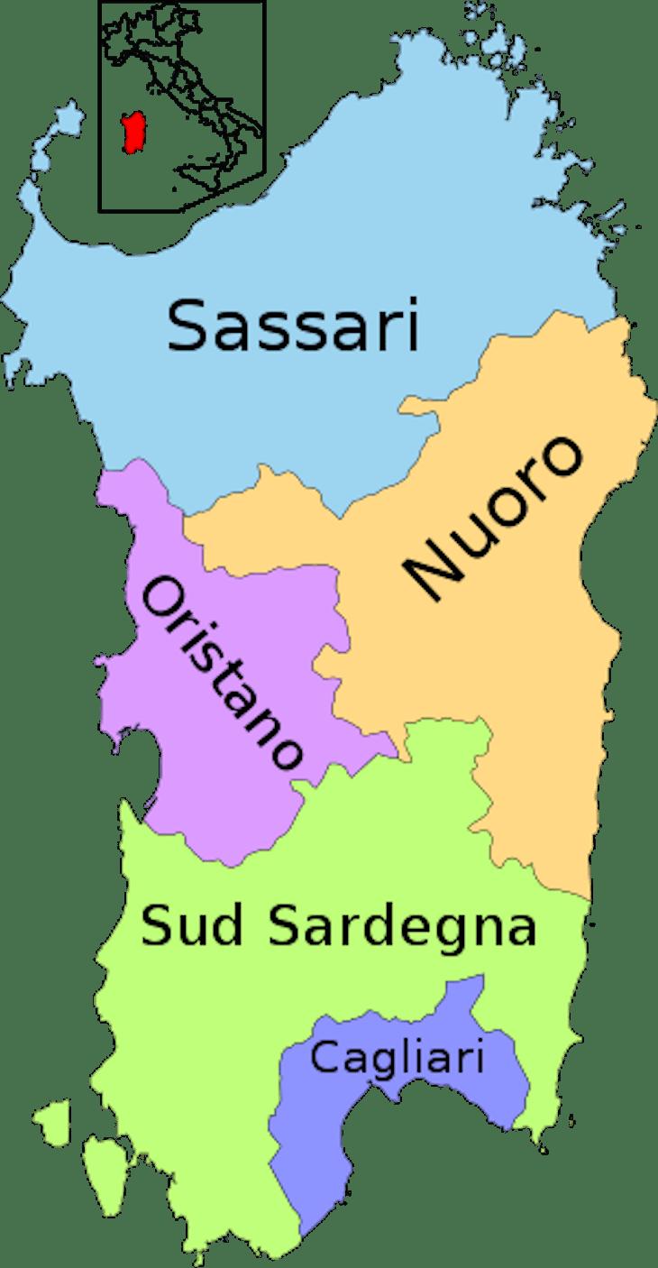 Províncias da Sardenha DR