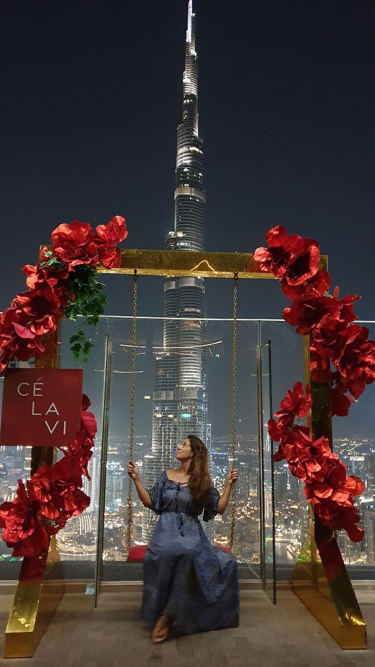 Vista do Ce la Vi para o Burj Khalifa - Dubai © Viaje Comigo