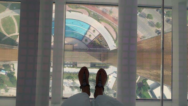 Passadeira de vidro - No topo da Moldura - Frame, Dubai © Viaje Comigo