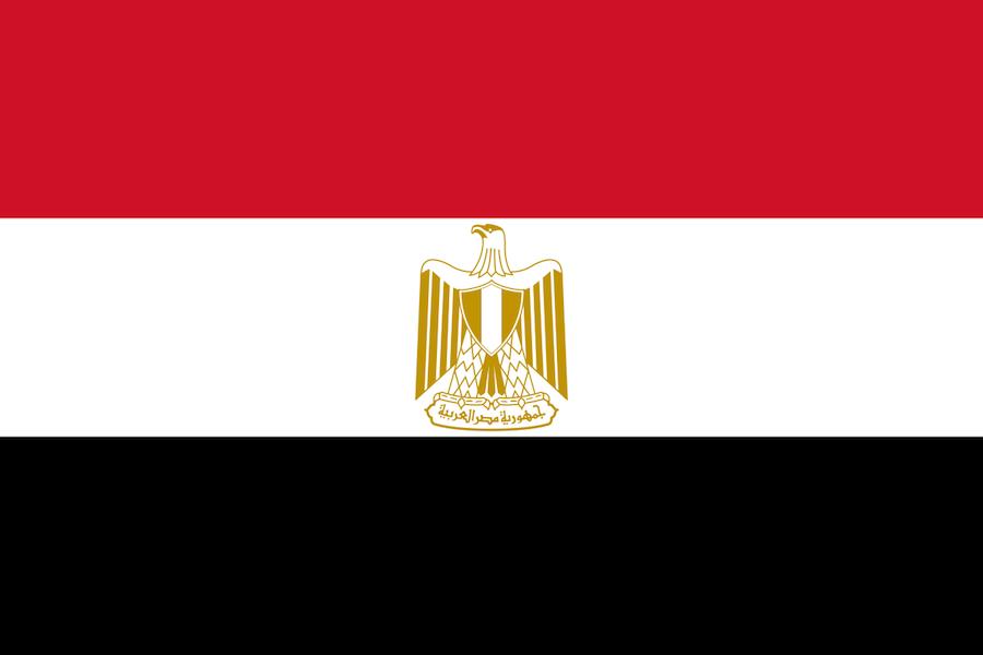 Bandeira do Egito © Wikipedia