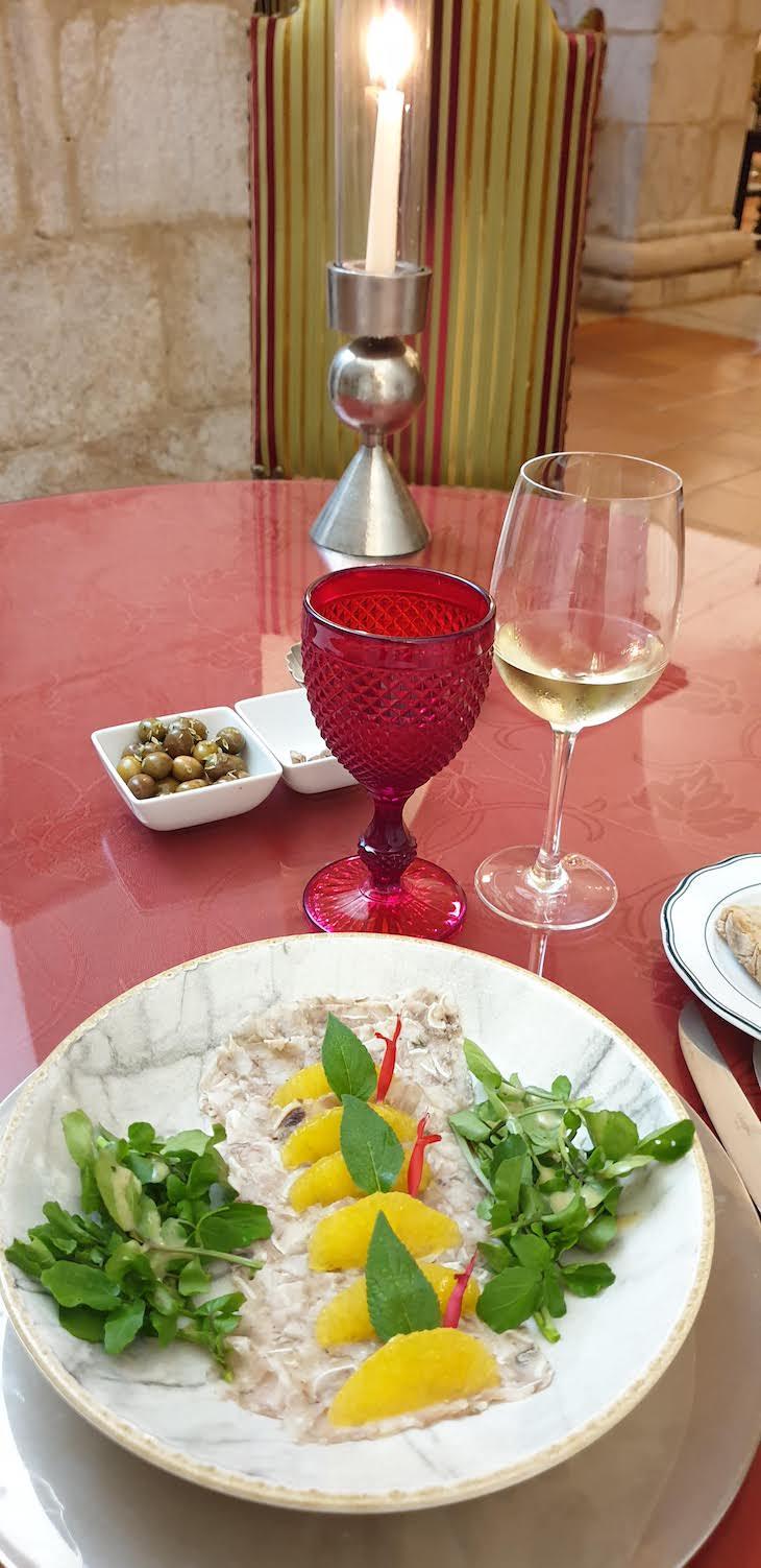Cabeça de xara, no jantar da Pousada Castelo Estremoz - Alentejo - Portugal © Viaje Comigo