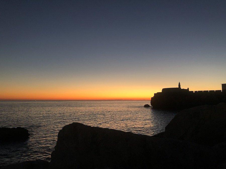 Pôr do sol em Peniche © Viaje Comigo