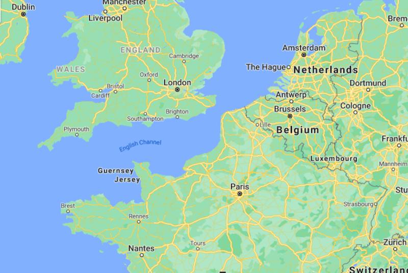 Mapa Norte de França © Google